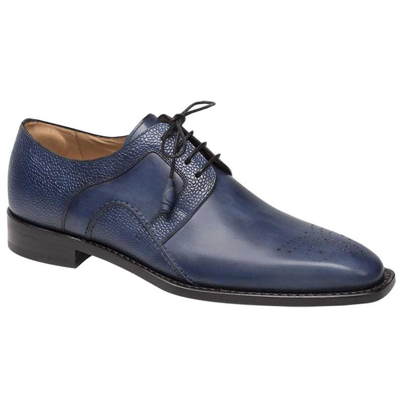 Mezlan Saturno Shoes Medium Blue Image