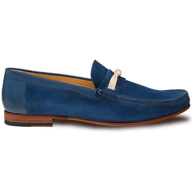 Mezlan Segura Suede Shoes Blue Image