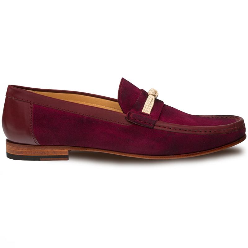 Mezlan Segura Suede Shoes Burgundy Image