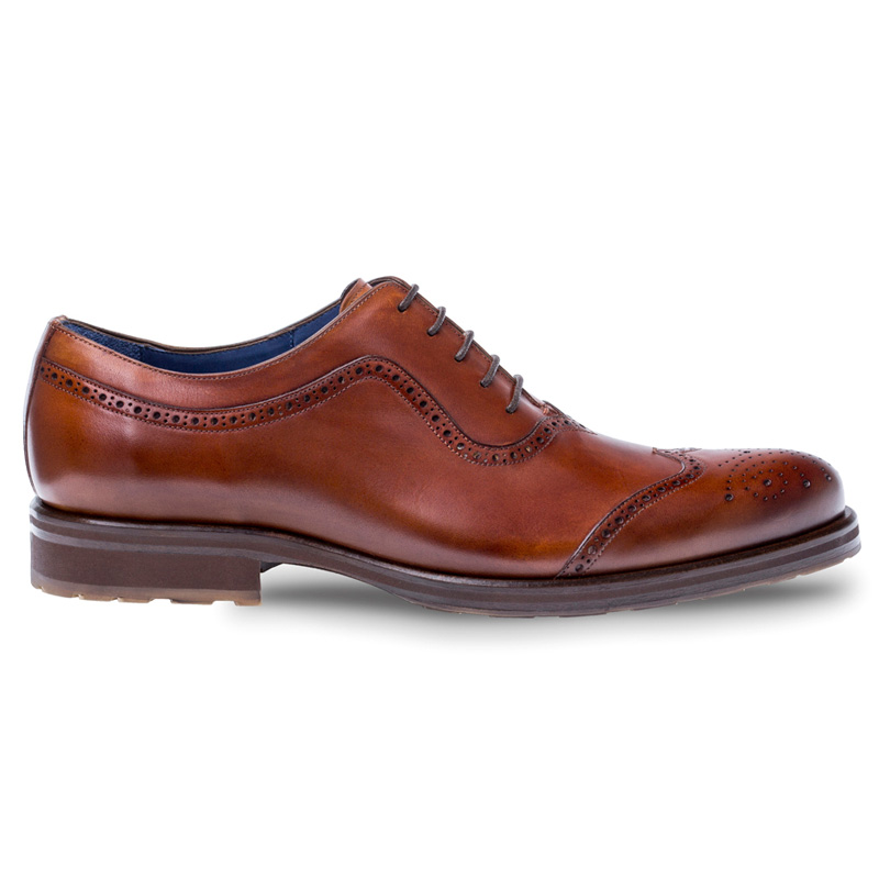 Mezlan Sharif Calfskin Oxford Shoes Cognac Image