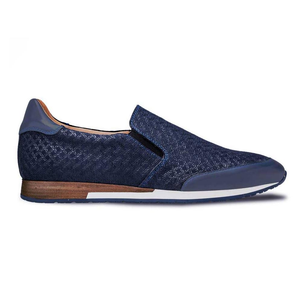 Mezlan Suede Slip On Sneaker Blue Image