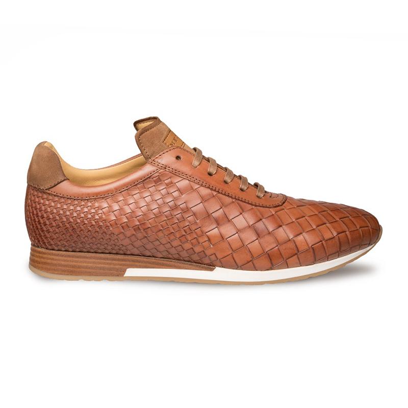 Mezlan Toronado Woven Sneaker Cognac Image