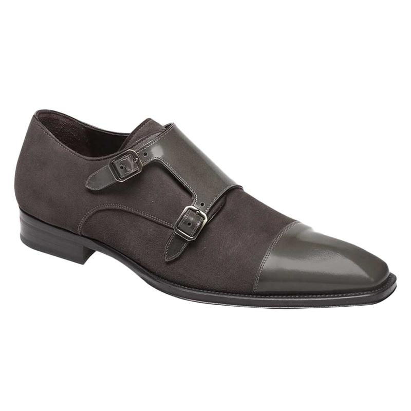 Mezlan Tulsa Calfskin Suede Shoes Grey Image