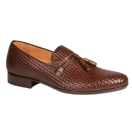 Mezlan Turing Woven Tassel Loafers Brown Image