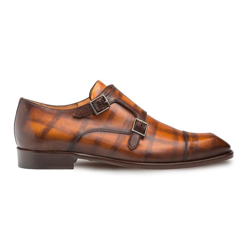Mezlan Valkyrie Calfskin Double Monkstrap Shoes Honey Image