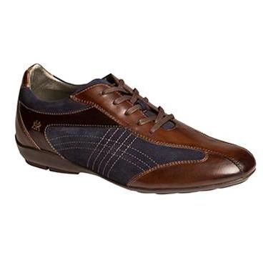Mezlan Vega Calfskin & Suede Sneakers Brown / Navy Image