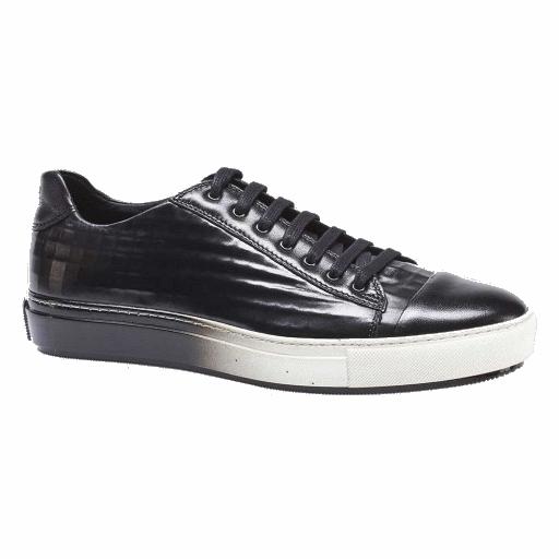 Mezlan Vera II Embossed Calfskin Sneakers Black Image