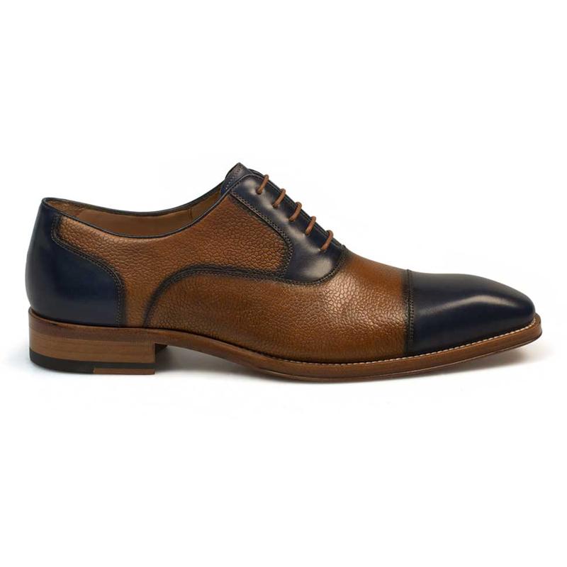 Mezlan Verino Lace Shoes Blue Tan Image