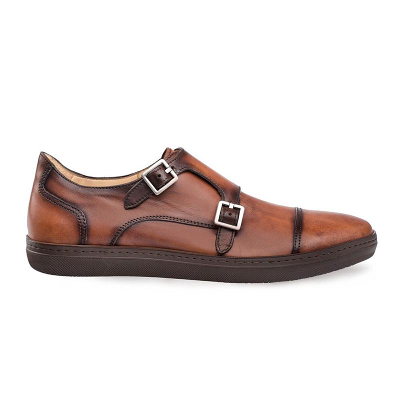 Mezlan Vicenza Calfskin Sneakers Cognac Image