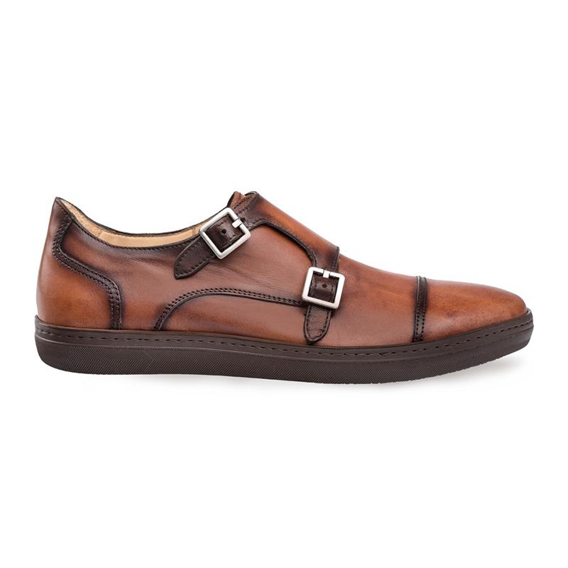 Mezlan Vicenza Double Monk Strap Sneaker Cognac Image