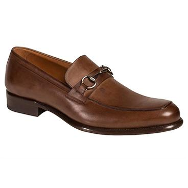 Mezlan Worcester Apron Toe Bit Loafers Brown Image