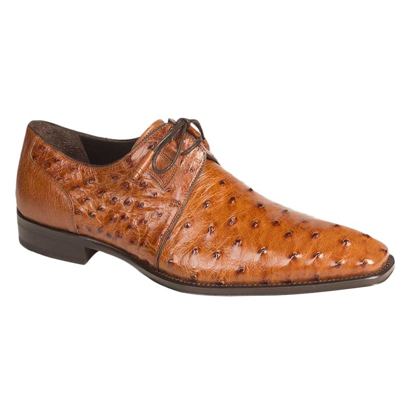 Mezlan Worth Ostrich Shoes Brandy Image