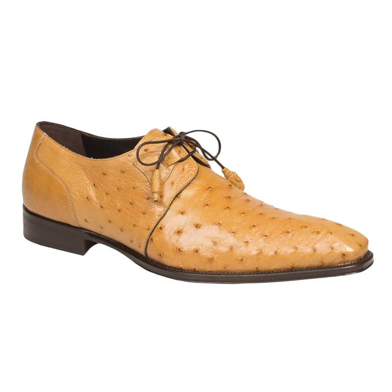 Mezlan Worth Ostrich Shoes Mustard Image