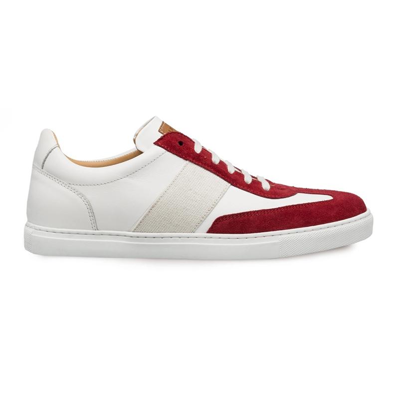 Mezlan Wyatt Dress Sneakers Burgundy/White Image