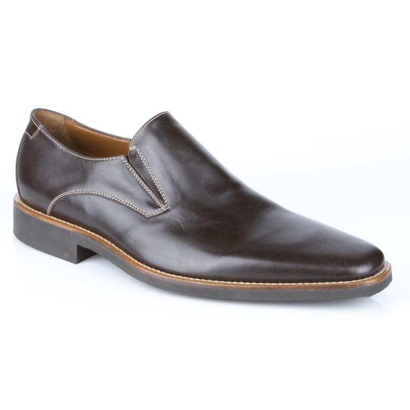 Michael Toschi Brando Plain Toe Loafers Brown Image