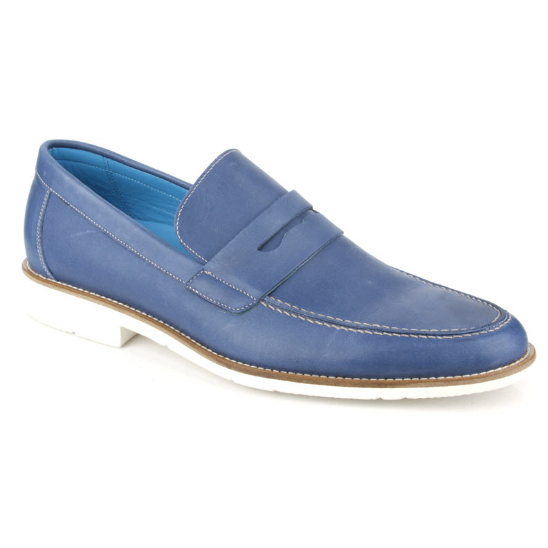 Michael Toschi Cabo Penny Loafers Blue Image