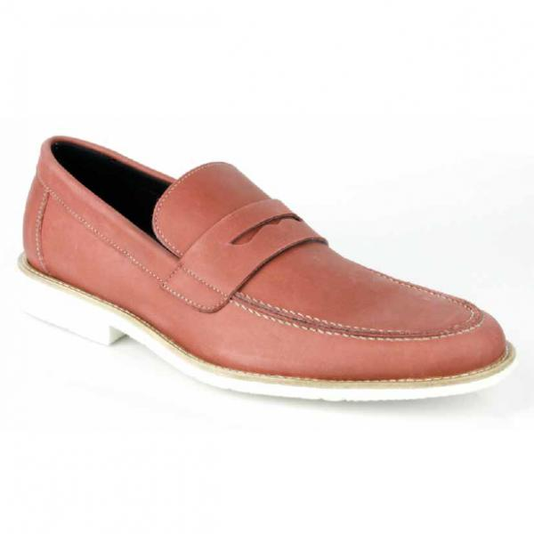 Michael Toschi Cabo Penny Loafers Brick Image