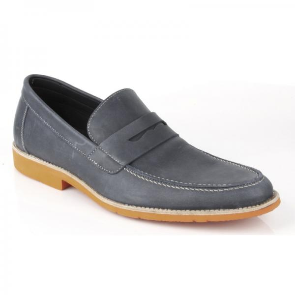 Michael Toschi Cabo Penny Loafers Steel / Orange Sole ...