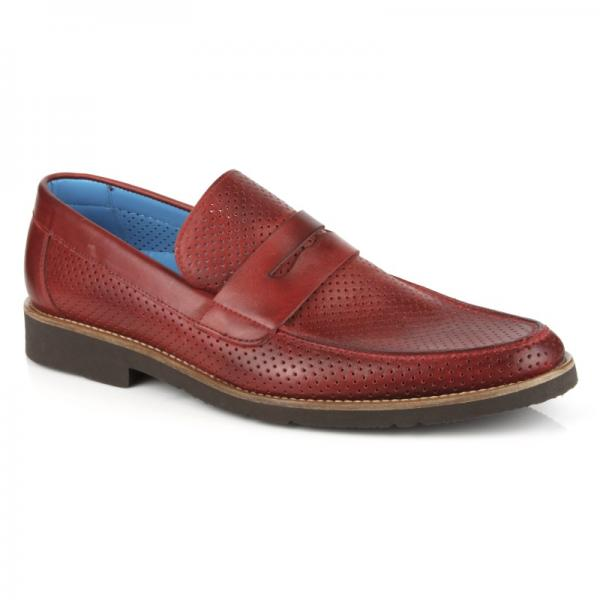 Michael Toschi Cabo Summer Perforated Loafers Melagrano Image