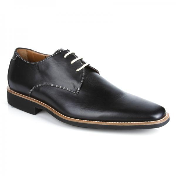 Michael Toschi Casanova Plain Toe Shoes Black Image
