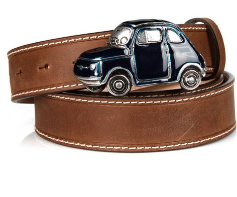 Michael Toschi Cinquecento 500 Belt Brown/Blue Image