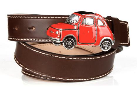 Michael Toschi Cinquecento 500 Belt Chocolate/Red Image