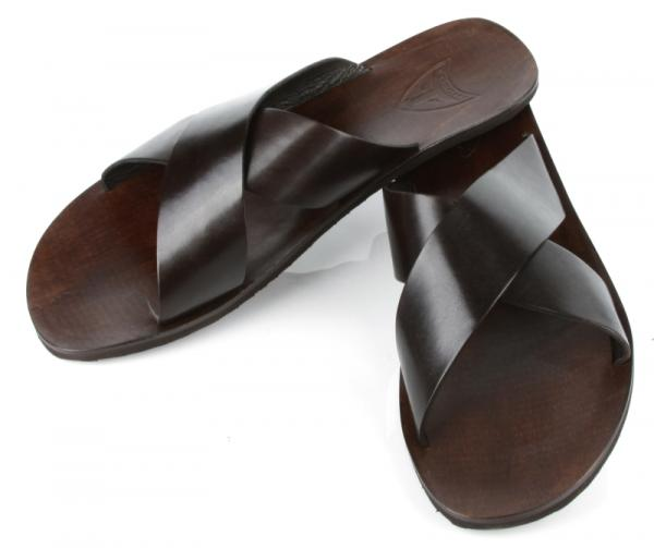 Michael Toschi Croche Sandals Chocolate Image