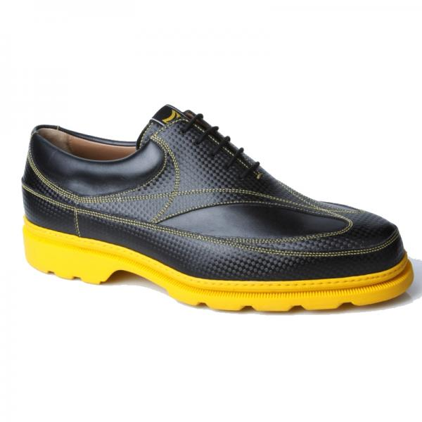 Michael Toschi GX Golf Shoes Black / Yellow Sole Image