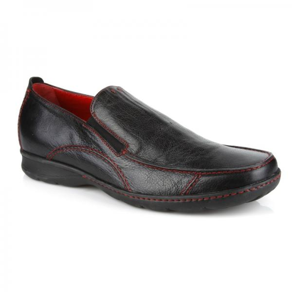 Michael Toschi Hover 2 Loafers Black / Red Stitch Image