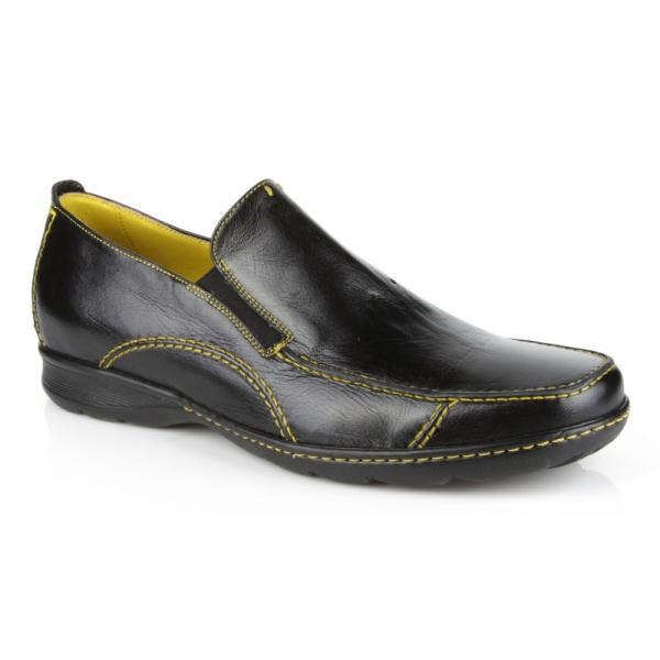Michael Toschi Hover 2 Loafers Black / Yellow Stitch Image