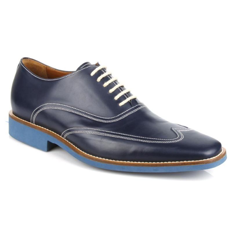 Michael Toschi Luciano Wingtip Brogues Navy / Blue Sole Image