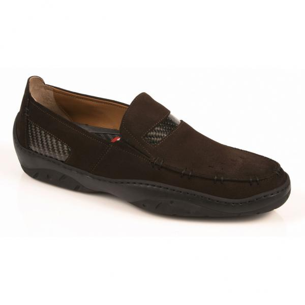 Michael Toschi Mach Driving Shoes Chocolate Suede Image