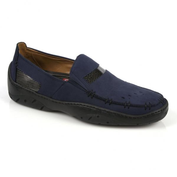 Michael Toschi Mach Driving Shoes Navy Nubuck Image