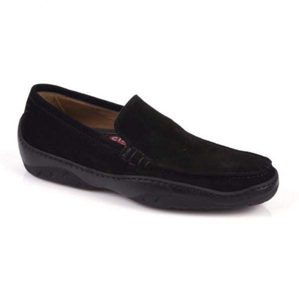 Michael Toschi Machster Driving Shoes Black Suede Image