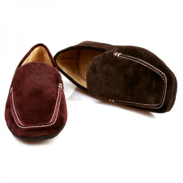 Michael Toschi Matina House Shoes Burgundy Suede Image