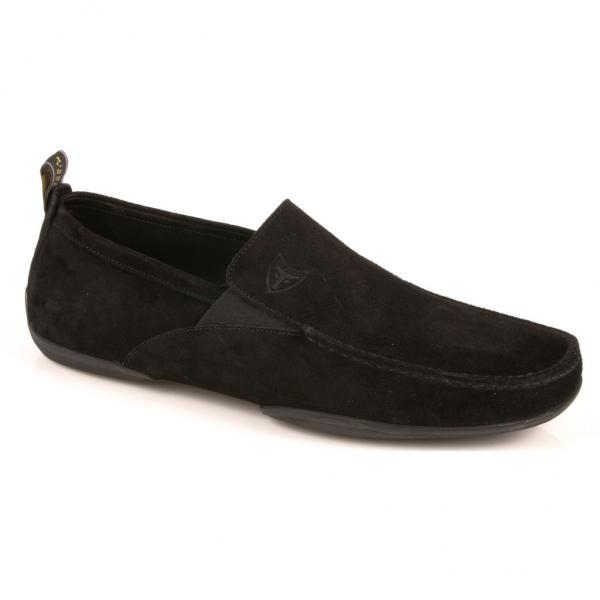 Michael Toschi Onda Driving Shoes Black Suede Image