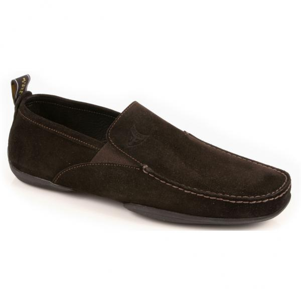 Michael Toschi Onda Driving Shoes Chocolate Suede Image