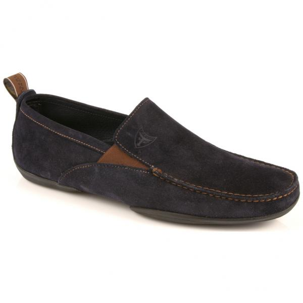 Michael Toschi Onda Driving Shoes Navy Suede Image