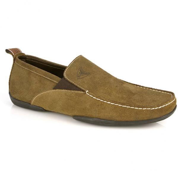 Michael Toschi Onda Driving Shoes Olive Suede Image