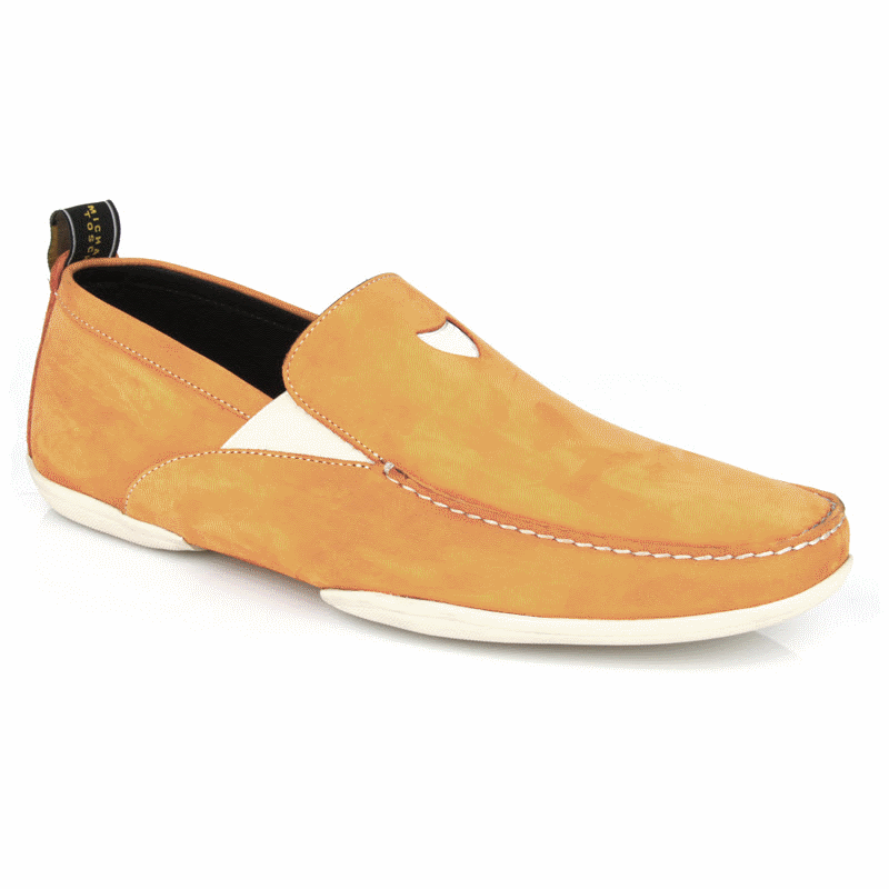 Michael Toschi Onda S Driving Loafers Orange Suede Image