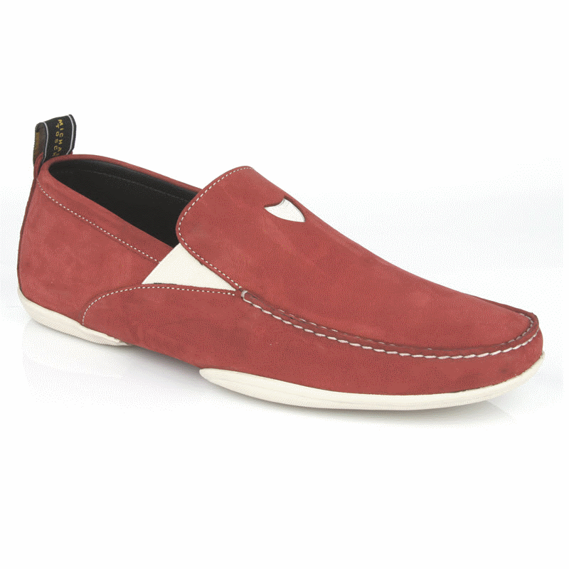 Michael Toschi Onda S Driving Loafers Red Suede Image