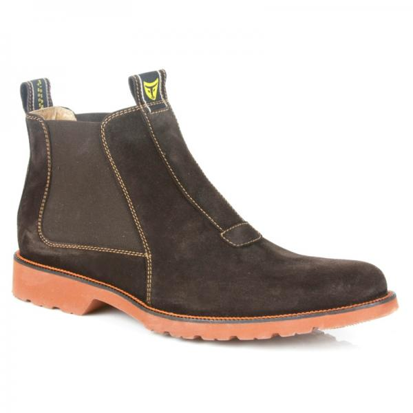 Michael Toschi Rugaro Boots Chocolate Suede Image