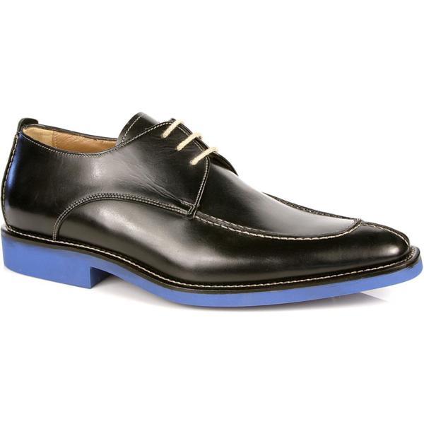 Michael Toschi Berta Split Toe Shoes Black/ Blue Sole Image
