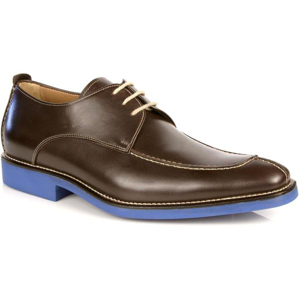 Michael Toschi Berta Split Toe Shoes Chocolate / Blue Sole Image