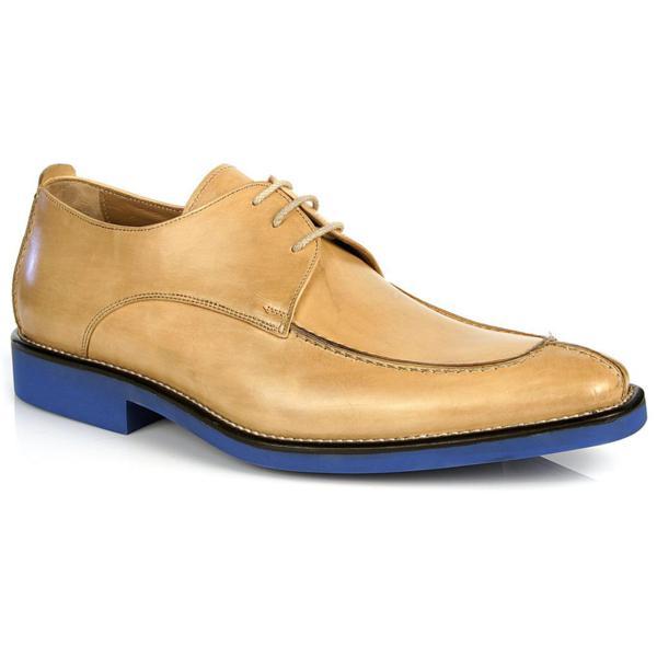 Michael Toschi Berta Split Toe Shoes Natural / Blue Sole Image