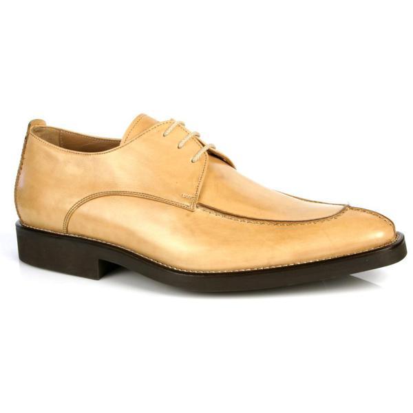 Michael Toschi Berta Split Toe Shoes Natural / Brown Sole Image