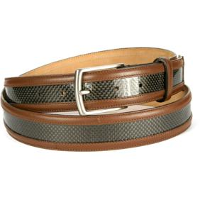 Michael Toschi Carbon Fiber Belt Brown Image