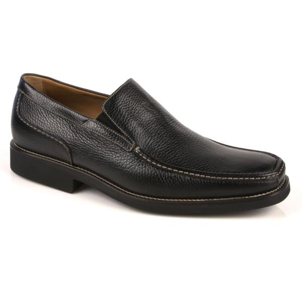 Michael Toschi Dollinger Pebble Grain Loafers Black Image