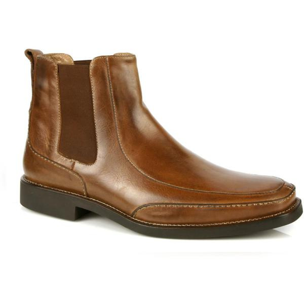 Michael Toschi Frisco Side Gore Boots Brown Distressed Image