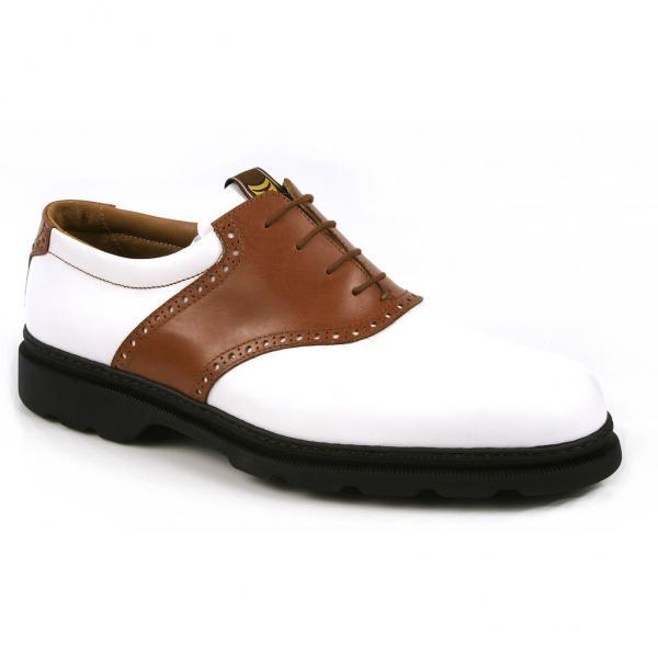 Michael Toschi G1 Saddle Golf Shoes Cigar/White Image